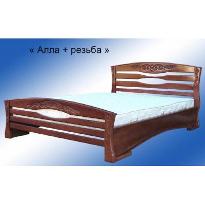 Кровать Алла Плюс резьба (массив бук)