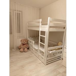 Двухъярусные кровати из массива дерева бук>