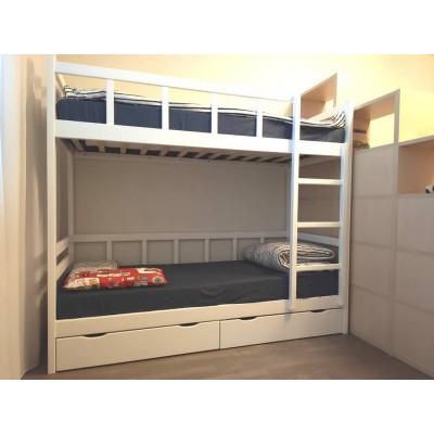 Кровать двухъярусная Юниор 8, белая