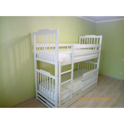 Кровать двухъярусная разъемная