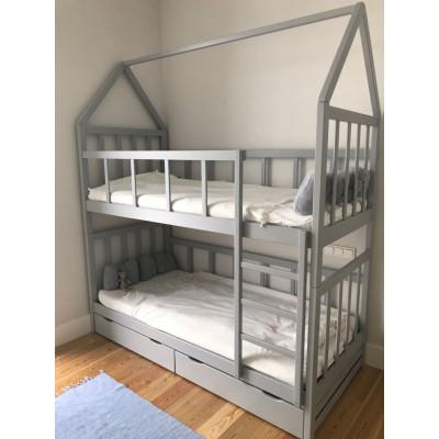 Двухъярусная кровать домик разъемная