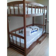 Двухъярусная кровать ЮНИОР - 4М, (цвет ольха)