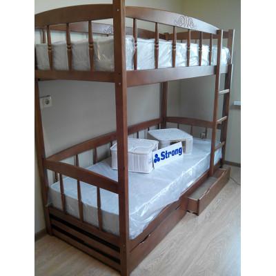 Двухъярусная кровать Юниор-4М, (цвет ольха)