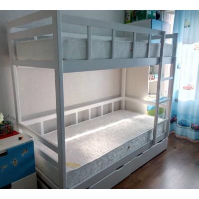 Кровать двухъярусная Юниор 7, белая