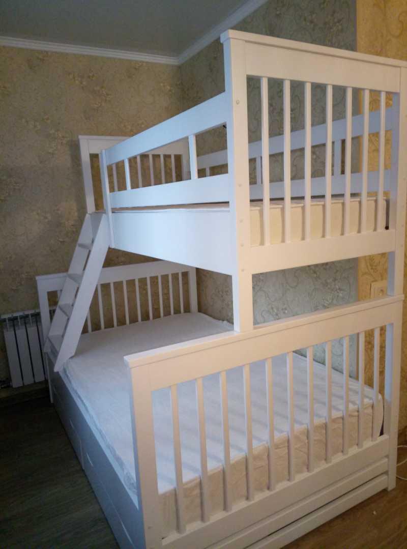 Разъемная двухъярусная кровать